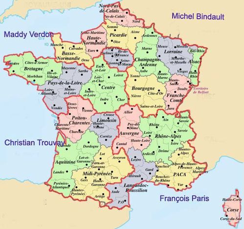 Geography blog cartes de france - Carte de france murale ...